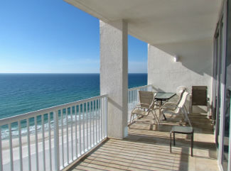 Island Tower Condo balcony at Orange Beach Alabama