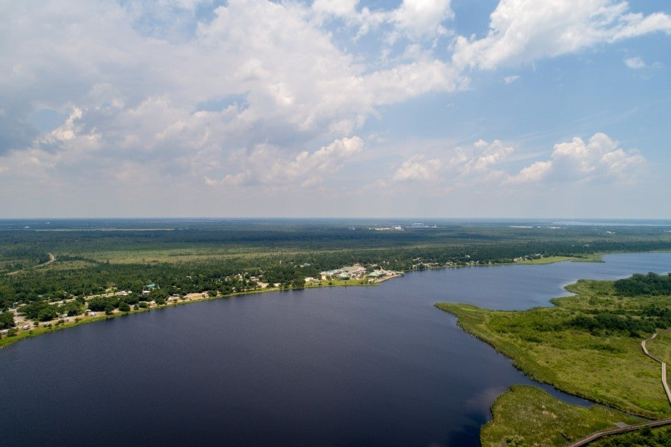 Aerial view of Gulf State Park, Gulf Shores Alabama