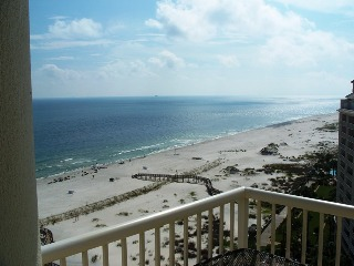 View of the Gulf from The Beach Club in Gulf Shores