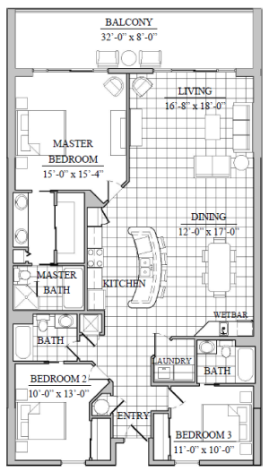 Junonia Beach Resort - floor plan